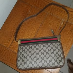 Rare Vintage Gucci Shoulder Bag with Stripe